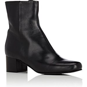 Barney's New York Leather Side-Zip Ankle Boots